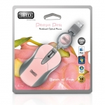 Мишка SWEEX Mini MI156 оптична USB розова