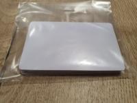 10 бр. Бяла бланка карта PVC