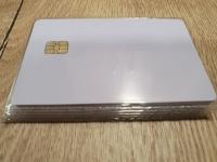 10 бр. Чип карта - SLE4442 бяла