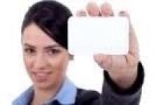 Бяла бланка карта PVC - Empty blank card