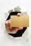 Златна карта бланка - Empty blank card in gold
