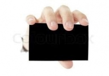Черна бланка карта - Empty blank card